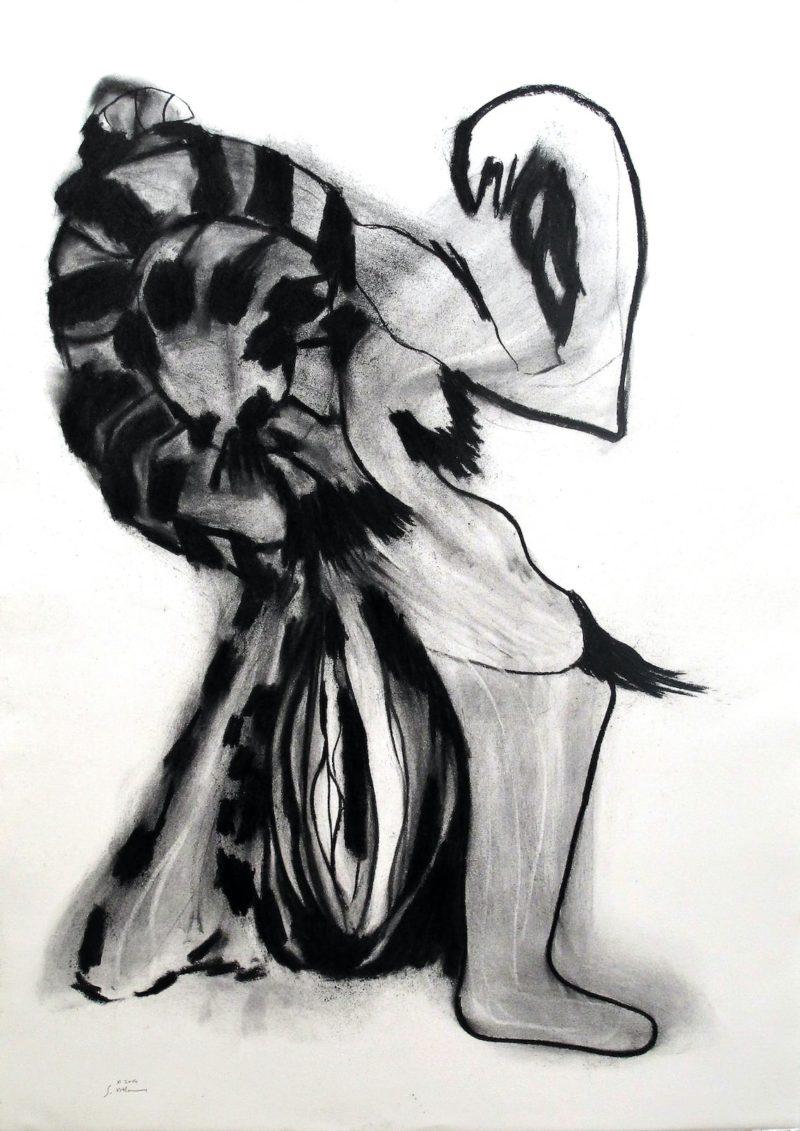 Sylvie-Villaume-5-fusain-picassien
